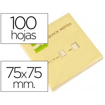 Bloco Notas Adesivo 75mmx75mm Amarelo 100 Folhas