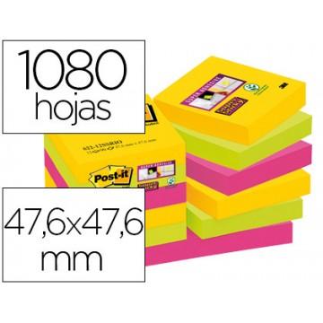 Bloco Notas Adesivo 47,6mmX47,6mm 90 Folhas 12 Cores Sortidas Rio de Janeiro Post-It