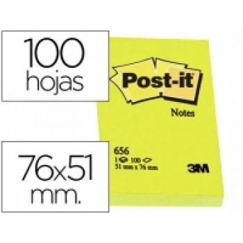 Bloco Notas Adesivo 51mmx76mm Amarelo 100 Folhas Post-It 656