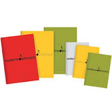Caderno De Música B5 Agrafado 20 Folhas