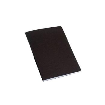 Caderno A4 Agrafado Capa Preta Pautado Com Margem