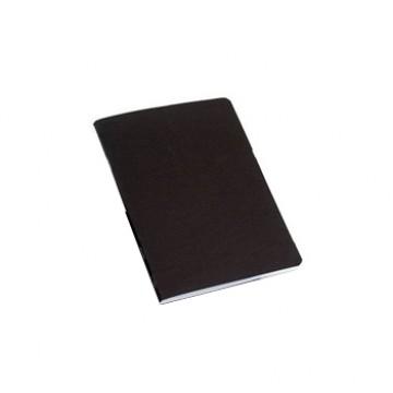 Caderno A4 Agrafado Capa Preta Liso Com Margem