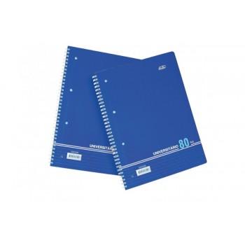 Caderno A4 Espiral 80Fls Pautado Capa Azul Firmo