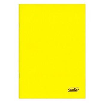 Caderno A4 60 Folhas Agrafado Pautado Amarelo Spring