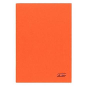Caderno A4 60 Folhas Agrafado  Xadrez Laranja Spring