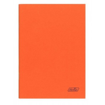 Caderno A4 60 Folhas Agrafado Pautado Laranja Spring