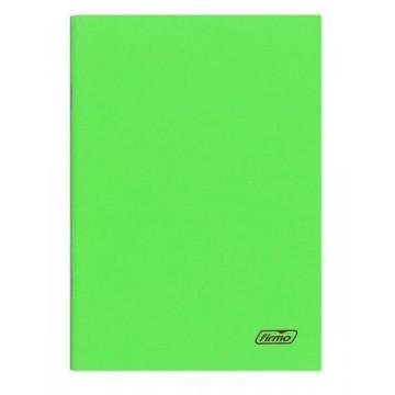 Caderno A4 60 Folhas Agrafado Pautado Verde Spring
