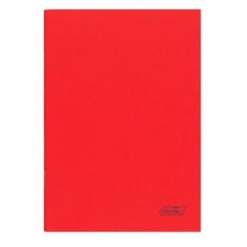 Caderno A4 60 Folhas Agrafado  Xadrez Vermelho Spring