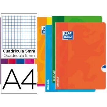 Caderno A4 48Folhas Xadres Oxford OpenFlex cores sortidas