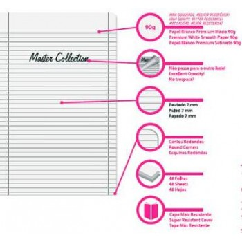 Caderno A4 48 Folhas Xadrez Master Collection Firmo