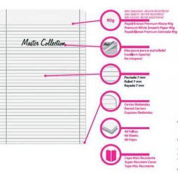 Caderno A4 48 Folhas Xadrez Master Collection Firmo