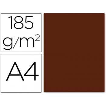 Cartolina A4 185Grs Chocolate 50 Unidades