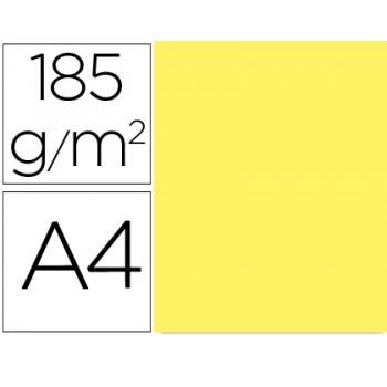 Cartolina A4 185Grs Amarela Limão 50 Unidades