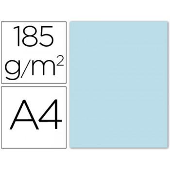 Cartolina A4 185Grs Azul Céu 50 Unidades
