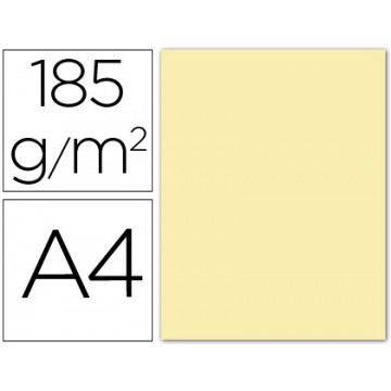 Cartolina A4 185Grs Creme 50 Unidades