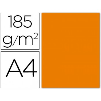 Cartolina A4 185Grs Laranja 50 Unidades
