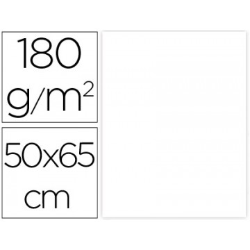 Cartolina 50X65cm 180Grs Branca 25 Unidades