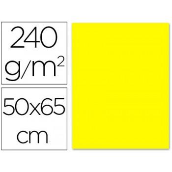 Cartolina 50X65cm 240Grs Amarela 25 Unidades