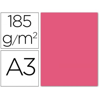 Cartolina A3 185Grs Rosa Fluorescente 50 Unidades Gvarro