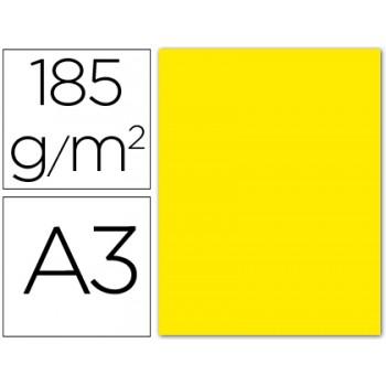 Cartolina A3 185Grs Amarela Fluorescente 50 Unidades Gvarro