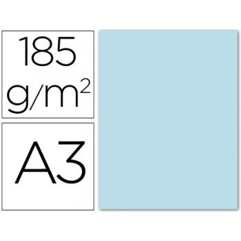 Cartolina A3 185Grs Azul Claro 50 Unidades Gvarro