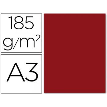 Cartolina A3 185Grs Granate 50 Unidades Gvarro