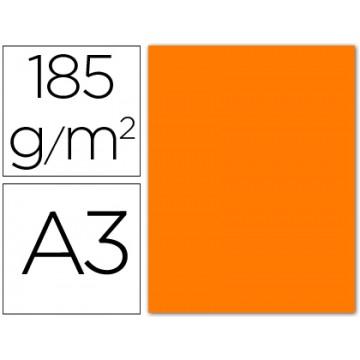 Cartolina A3 185Grs Laranja Fluorescente 50 Unidades Gvarro