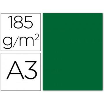 Cartolina A3 185Grs Verde Escuro 50 Unidades Gvarro