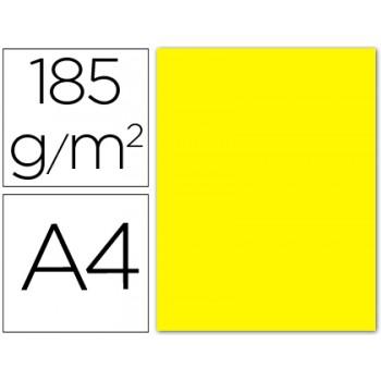 Cartolina A4 185Grs Amarela Canário 50 Unidades
