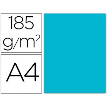 Cartolina A4 185Grs Azul Turquesa 50 Unidades