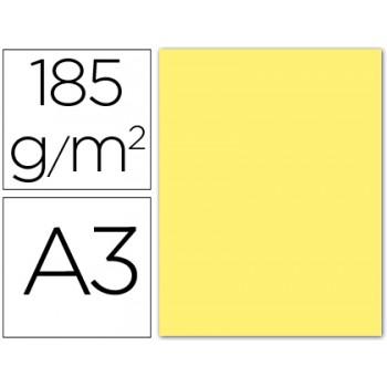 Cartolina A3 185Grs Amarela 50 Unidades Gvarro