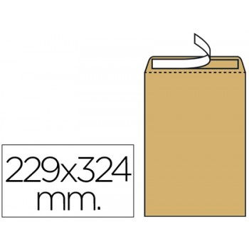 Envelope 229x324mm C4 Kraft Pack 250 Unidades
