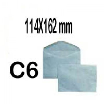 Envelope 114x162mm Azul C6 Gomado 500 Unidades