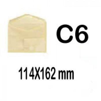 Envelope 114x162mm Beije C6 Gomado 500 Unidades