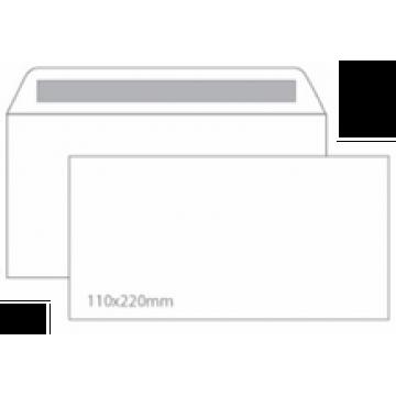 Envelope 110x220mm Branco DL Sem Janela 90grs Caixa 500 Unidades