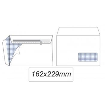 Envelope 162x229mm Branco C5 Com Janela Pack 500 Unidades