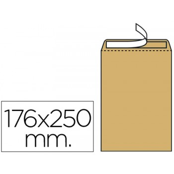 Envelope 176x250mm Kraft B5 Pack 500 unidades