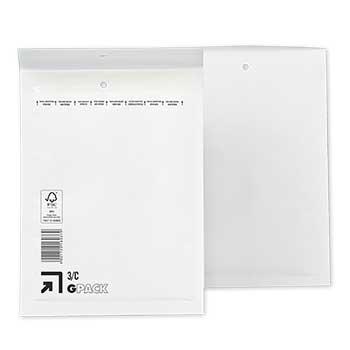 Envelope Almofadado 150x215mm Branco 100 Unidades
