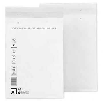 Envelope Almofadado 180x265mm Branco 100 Unidades