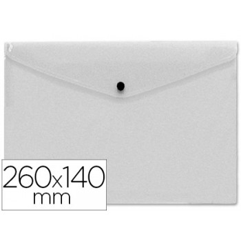 Envelope Plástico 260x140mm com Mola Transparente 12 unidades