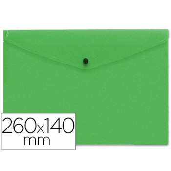 Envelope Plástico 260x140mm com Mola Verde