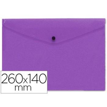 Envelope Plástico 260x140mm com Mola Violeta 12 Unidades