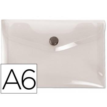 Envelope Plástico A6 com Mola Cristal 12 Unidades