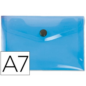 Envelope Plástico A7 com Mola Azul