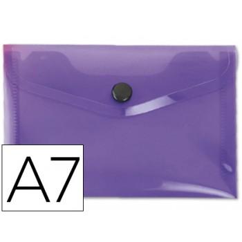 Envelope Plástico A7 com Mola Violeta