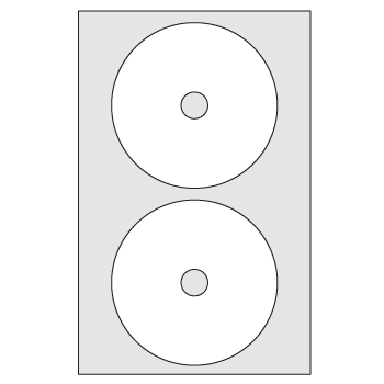 Etiquetas A4 autocolantes 117x17mm Cd/Dvd 100 Folhas