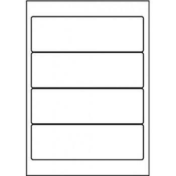Etiquetas A4 192x61mm Autocolantes Brancas 100 Folhas