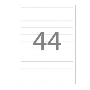 Etiquetas A4 48,3x25,4mm  Autocolantes Brancas 100 Folhas