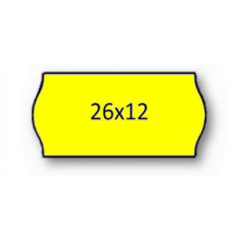 Etiquetas de Rolo 26x12mm Com 1500 Amarela Fluorescente
