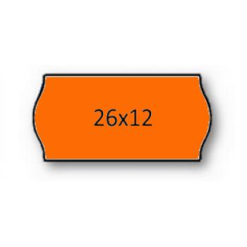 Etiquetas de Rolo 26x12mm Com 1500 Laranja Fluorescente